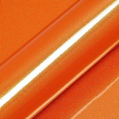 "Adesivo para Envelopamento Automotivo Alto Brilho Glitter Cor ""Aurora Orange Gloss"" Kit Carro Completo"