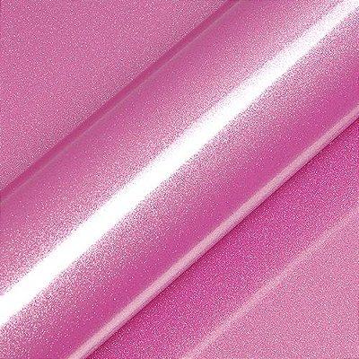 "Adesivo para Envelopamento Automotivo Alto Brilho Glitter Cor ""Jellybean Pink Gloss"" Kit Carro Completo"