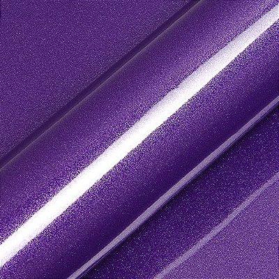 "Adesivo para Envelopamento Automotivo Alto Brilho Glitter Cor ""Violet Byzantin"" Carro Completo"