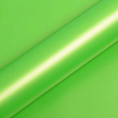 """Adesivo para Envelopamento Automotivo Fosco Metálico Cor """"Vert Wasabi Métallisé Mat"""" Carro Completo"""