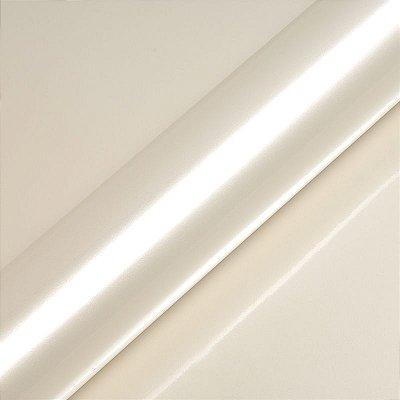 "Adesivo para Envelopamento Automotivo Alto Brilho Metálico Cor ""Nacre White Gloss"" Carro Completo"