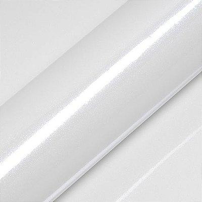 """Adesivo para Envelopamento Automotivo Alto Brilho Glitter Cor """"Saturn White Gloss"""" Carro Completo"""