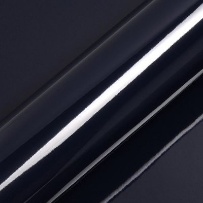 "Adesivo para Envelopamento Automotivo Alto Brilho Cor ""Dark Navy Blue Gloss"" Carro Completo"