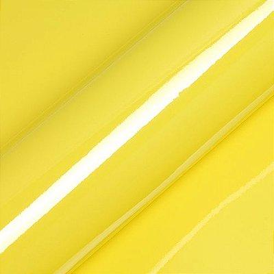 "Adesivo para Envelopamento Automotivo Alto Brilho Cor ""Lemon Yellow Gloss"" Carro Completo"