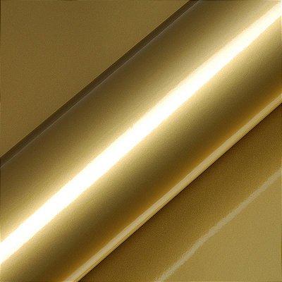 "Adesivo para Envelopamento Automotivo Alto Brilho Cor ""Gold Gloss"" Carro Completo"