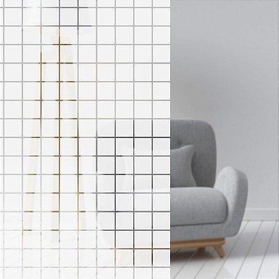 "Película Decorativa para Vidro Residencial ""Mini Quadrado Branco"""