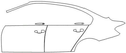 """Película ClearShield de Proteção de Pintura Transparente Super Brilho """"Kit Portas lado Esquerdo/Paralama Esquerdo"""" BMW 320 Ano 2017"""