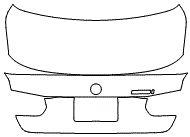 """Película ClearShield de Proteção de Pintura Transparente Super Brilho """"Porta Mala Completo"""" BMW 320 Ano 2017"""