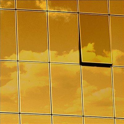 """Película para Vidro Comercial Espelhada de Alta Redução de Calor """"Specchio Gold Silver"""""""