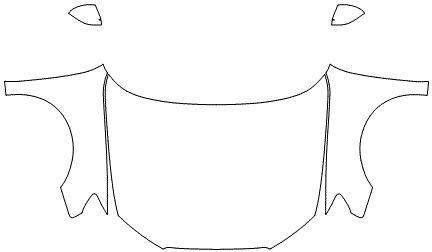 """Película ClearShield de Proteção de Pintura Transparente Super Brilho """"Kit Capô Inteiro/Paralama/Retrovisores"""" Audi A3 Sedan Ano 2011/2018"""