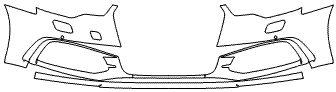 """Película ClearShield de Proteção de Pintura Transparente Super Brilho """"Parachoque Dianteiro"""" Audi A6 Sedan Ano 2011/2018"""