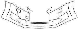 """Película ClearShield de Proteção de Pintura Transparente Super Brilho """"Parachoque Dianteiro"""" Audi TT/S Roadster Ano 2012/2018"""