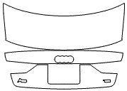 "Película ClearShield de Proteção de Pintura Transparente Super Brilho ""Porta Mala Completo"" Audi A3 Sedan Ano 2011/2018"