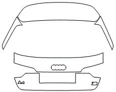 "Película ClearShield de Proteção de Pintura Transparente Super Brilho ""Porta Mala Completo"" Audi A4 Avant Ano 2011/2018"