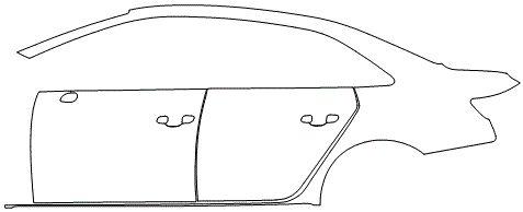 """Película ClearShield de Proteção de Pintura Transparente Super Brilho """"Kit Portas lado Esquerdo/Paralama traseiro lado Esquerdo"""" Audi A4 Sedan Ano 2011/2018"""