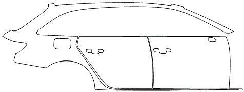 """Película ClearShield de Proteção de Pintura Transparente Super Brilho """"Kit Portas lado Direito/Paralama dianteiro lado Direito"""" Audi RS6 Avant Ano 2011/2018"""
