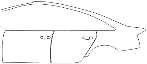 """Película ClearShield de Proteção de Pintura Transparente Super Brilho """"Kit Portas lado Esquerdo/Paralama dianteiro lado Esquerdo"""" Audi RS7 Sportback Ano 2011/2018"""