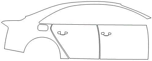 """Película ClearShield de Proteção de Pintura Transparente Super Brilho """"Kit Portas lado Direito/Paralama dianteiro lado Direito"""" Audi A8 Ano 2011/2018"""