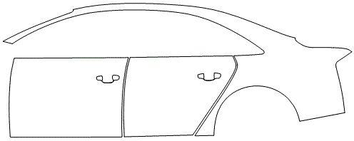 """Película ClearShield de Proteção de Pintura Transparente Super Brilho """"Kit Portas lado Esquerdo/Paralama dianteiro lado Esquerdo"""" Audi S8 Ano 2011/2018"""