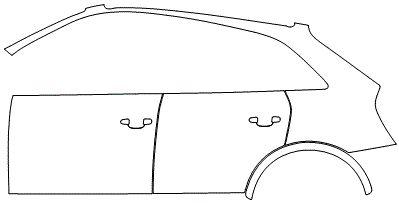"""Película ClearShield de Proteção de Pintura Transparente Super Brilho """"Kit Portas lado Esquerdo/Paralama traseiro lado Esquerdo"""" Audi Q3 Ano 2011/2018"""