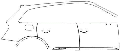 """Película ClearShield de Proteção de Pintura Transparente Super Brilho """"Kit Portas lado Direito/Paralama traseiro Direito"""" Audi Q7 Ano 2011/2018"""