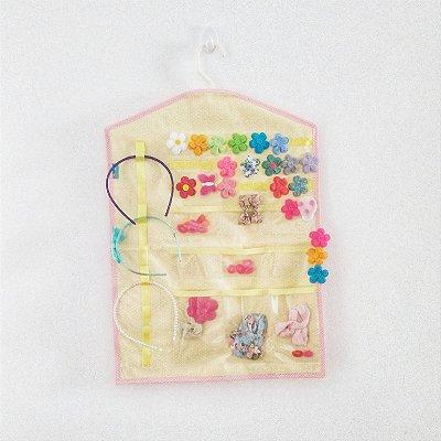 Organizador FIVELA Poá com rosa