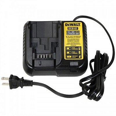 Carregador Bateria De Lítio 12v / 20v Bivolt Dcb107 Dewalt
