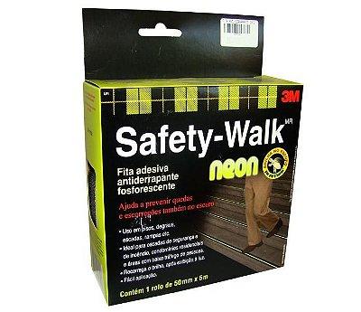 Fita Antiderrapante Auto Adesiva 3m Neon Safety-walk