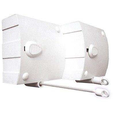 Varal Modular Recolhe Automático - 3 Peças Com 4,8m Cada