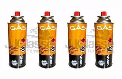 Kit Com 4 Gás Butano Refil 227g Nautika  Para Maçarico