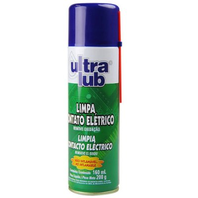 Kit 6 Limpa Contato Eletrico Spray Para Eletronicos Ultralub 205ml