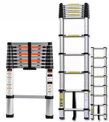 Escada Articulada Retrátil Alumínio 2,6 Mts 8 Degraus