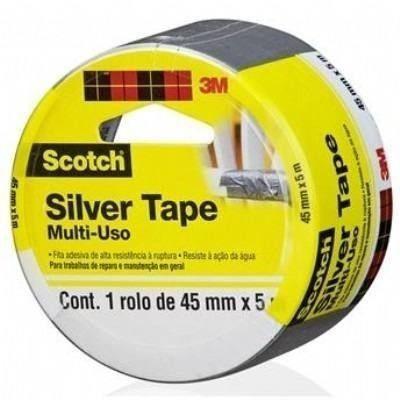 Fita Silver Tape 45mm X 5m Scotch 3m Original