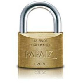Cadeado Papaiz 70mm Chave Tetra Crt 70