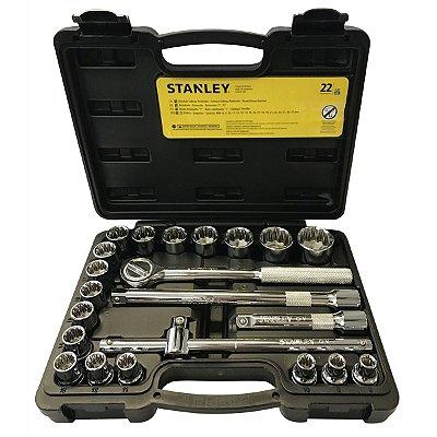 Jogo De Soquete 1/2 8-32mm 22 Pçs Stmt81242-840 - Stanley