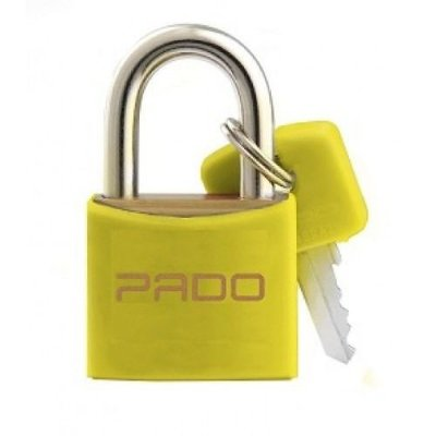 Cadeado Pado Color 20mm Amarelo