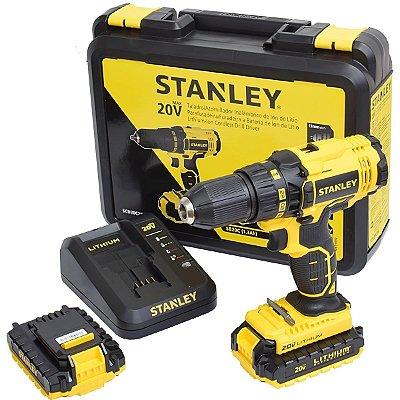 Furadeira / Parafusadeira 1/2 À Bateria 20 Volts Com 2 Baterias - Scd20c2k-Br - Stanley Bivolt