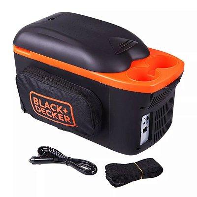 Mini Geladeira Portátil 8 L BDC8-LA Black And Decker - Preto e Laranja