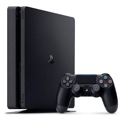 Video Game Playstation - Ps4 Slim Com 1 Controle HD 1 TB Bivolt