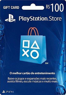 Cartão Vale Presente Playstation Store Brasil R$ 100 Reais Psn Brasileiro Gift Card