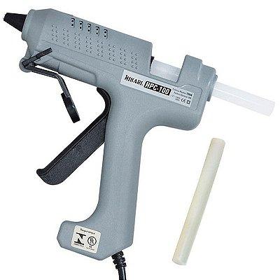 Pistola De Cola Quente Hikari Industrial Profissional 100w Bivolt