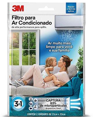 Filtro Para Ar Condicionado 3m Split 83% de todas as impurezas do ar