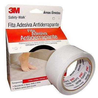 Fita Adesiva Antiderrapante Transparente P/ Banheiros 50mm X 5mt 3m