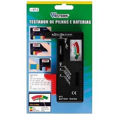 Testador De Pilhas Baterias Medidor Normal Recarregável