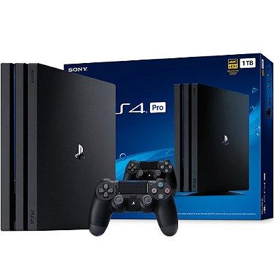 Video Game Playstation - Ps4 Pro Com 1 Controle HD 1 TB Bivolt