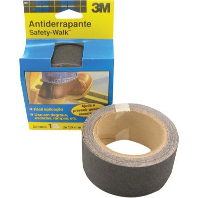 Fita Antiderrapante Safety Walk 3M Preto