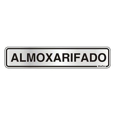 Placa De Sinalização Alumínio Almoxarifado Sinalize 05x25cm