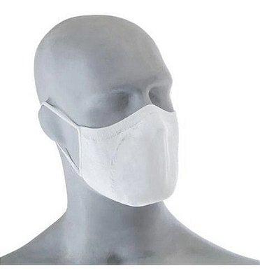 Máscara Dupla Camada Fit Antimicrobial Branco 2 Pares Lupo