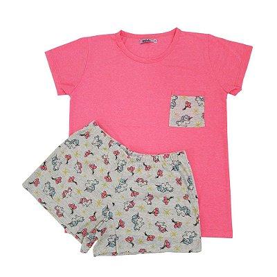 Pijama Estampado Unicórnio com Short