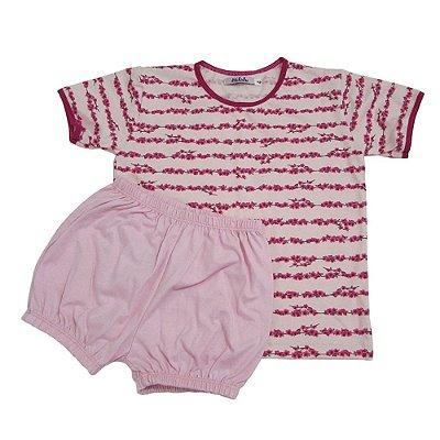 Pijama Estampado Floral com Elástico